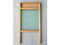 Glass washboard, Acme brand, decades old but looks brand new
