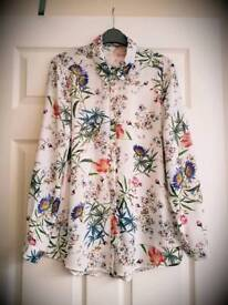 Flower/botanical shirt vintage-look 14 BNWOT