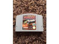 Nintendo 64 top gear rally game. N64
