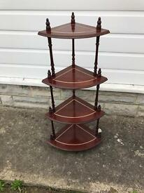 Retro wooden corner unit