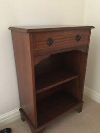 Mahogany side table/bookcase