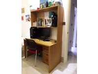 Large wooden desk for sale. Used. Excellent condition