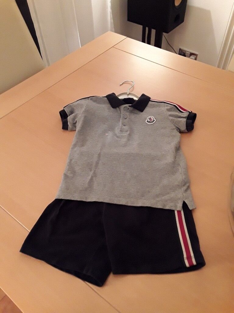 221eb68cf Moncler boys short and T shirt set, 2 year old | in Morley, West Yorkshire  | Gumtree
