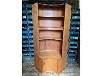 G Plan Fresco wide base unit plus bookcase upper wall furniture Danish style teak gplanera