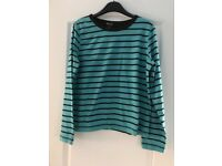 Womans long sleeve stripe top Size Large