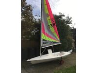 Byte Sailing Dinghy with launching trolley