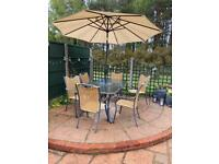 Metal and Glass Garden Patio Furniture