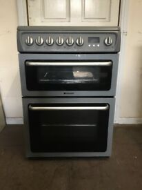 Hotpoint electric cooker 60cm grey ceramic double oven 3 months warranty free local delivery!!!!!