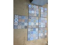 Moroccan style floor tiles - £35 for all