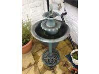 Electric garden fountain