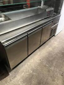 3 door prep freezer