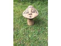 Miss Mushroom Garden Ornament