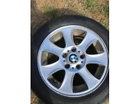 BMW style 151 wheels alloys great tyres on it