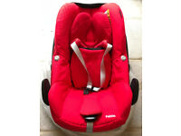 Maxi Cosi Pebble Baby Car Seat (Group 0+) - Red