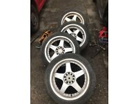 VW Audi alloy Wheels with tyres 17 inch Multi-stud will fit many cars