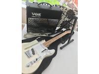 Mexican Fender Telecaster & VOX Valvetronix Amp Bundle