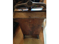 Vintage trouser press and gentleman's valet stand