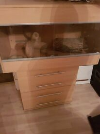 £100 Large Vivarium for sale. Comes with storage drawers
