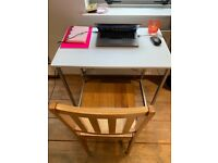 Harbour Housewares Industrial Office Desk White 80 x 50cm