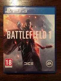 BATTLEFIELD 1 PS4 GOOD CONDITION