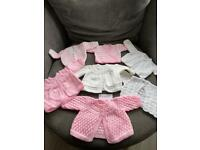Hand knitted baby and girls cardigans