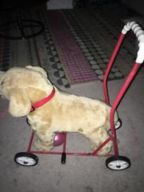 Retro vintage ride on push along toy