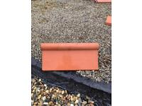 Antique roll top ridge tile