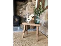 Rustic elm stool