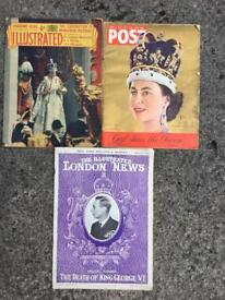 Collection of magazines from the 1950's