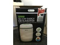 Meaco Dehumidifier 12l low energy Platinum Range New