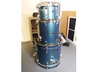 Tama Silverstar Birch drum kit (18, 12, 14) in Blue Sparkle