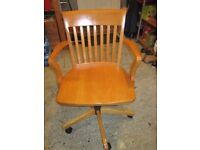 Solid wood swivel office/study chair