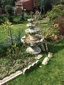Solid 4 teir garden water feature