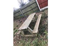 Large Concrete Garden Picnic Benches