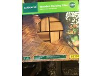 3 packs Decking Tiles Arcacia Wood by Gardenline (30 tiles in total). New, unopened packs.