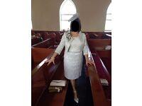 Mother of bride /Groom outfit. Trendy Argiddo Dress & Jacket plus Hat & Shoes &Bag £130