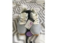 Girls glitter trainers