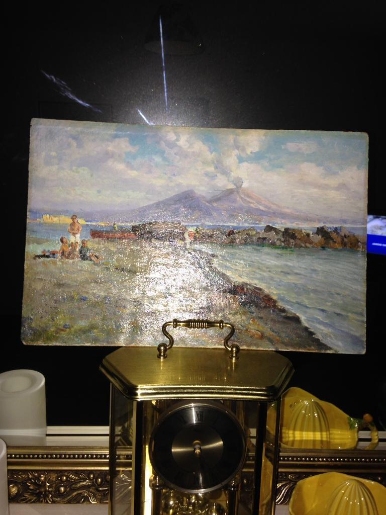 Beautiful painting of mount Vesuvius 1906
