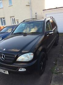 """2003 MERCEDES ML270 CDI BLACK 98K MILES ONLY 20"""" AMG STYLE ALLOYS DRIVE AWAY BARGAIN GARAGE FIND"""