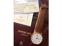 Raymond Weil Mens watch 1986 Model 5508 £299 ono