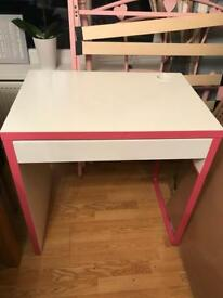 Ikea children's pink desk