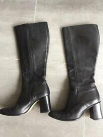 Principles black leather boots size 6