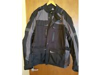 "MOTORCYCLE JACKETS MERLIN 4XL AS NEW ALSO IXS BLK LEATHER 54"" AND TCX XS SPORT BOOTS 11 AS NEW"
