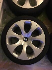 "BMW 5 6 series genuine rear 19"" 121 style wheel & Bridgestone tyre"