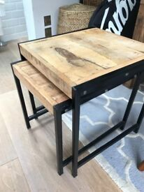 Hardly Used Solid Wood Acacia Ikea Skogsta Dining Table For Sale