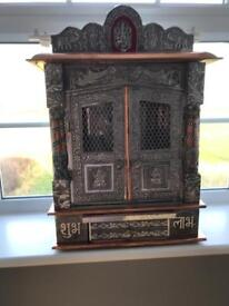 Small oxidised Mandir / temple