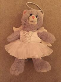 Build A Bear Grey Cat In Angel Dress