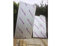 1 (nearly 2) x 150mm Ecotherm insulation panel x 2400mm x 1200mm