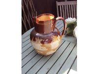 vintage lambeth doulton jug with hunt scene