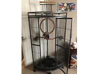 Large parrot/bird corner cage